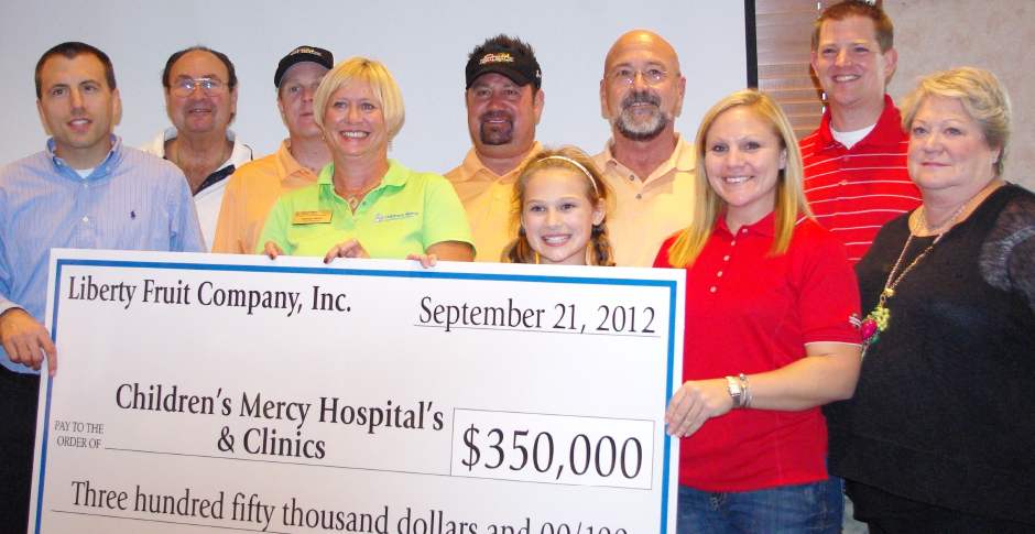 Liberty Fruit Golf Tournament - Liberty Fruit - Childrens Mercy Donation